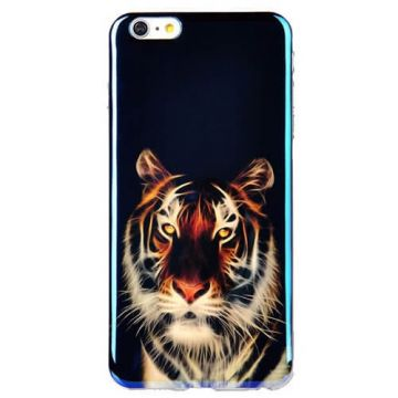 Tiger head TPU soft case iPhone 6 + hoesje