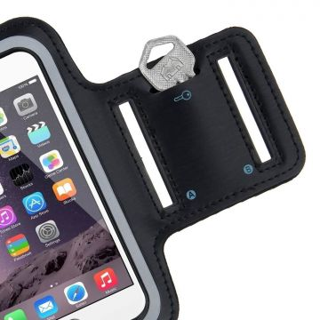 Sportarmband zwart iPhone 6 Plus / 7 Plus / 8 Plus