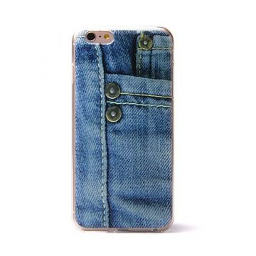 Coque souple TPU Pression Jeans iPhone 6 Plus