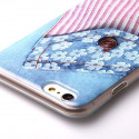 TPU Soft case jeans with flowers iPhone 6 Plus