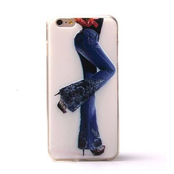 Coque souple TPU femme en Jeans iPhone 6 Plus