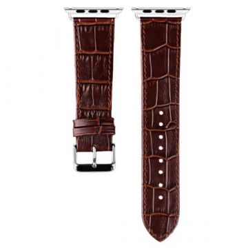 iSmile brown crocodile leather Apple Watch 40mm & 38mm bracelet with adapters