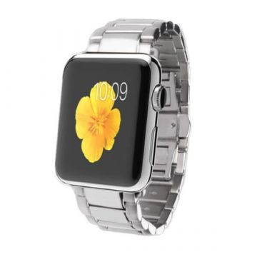iSmile stainless steel Apple Watch 40mm & 38mm metal bracelet with adapters