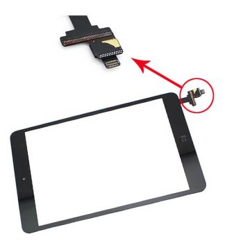 iPad Mini scherm zwart met IC connector - iPad Mini 1 & 2