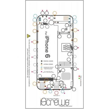 iScrews Hole distribution board for iPhone 6