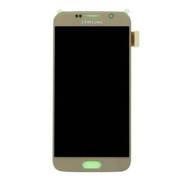 Original quality complete screen for Samsung Galaxy S6 in gold