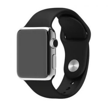 Zwart bandje Apple Watch 38mm siliconen