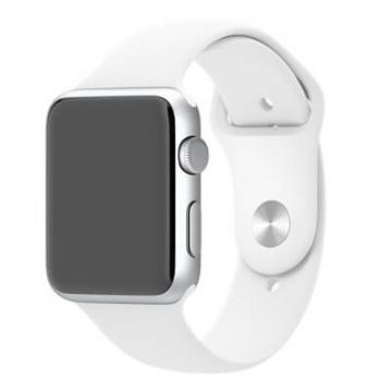 Wit bandje Apple Watch 42mm siliconen S/M M/L