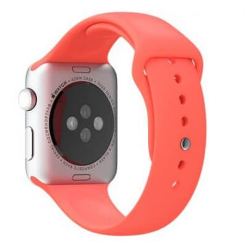 Rood roze bandje Apple Watch 42mm siliconen