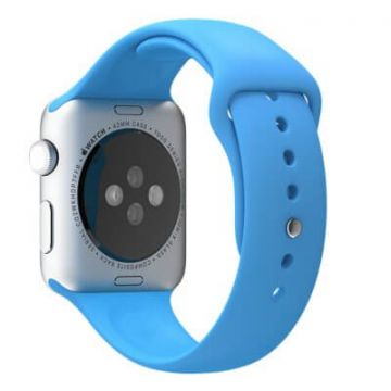 Blauw bandje Apple Watch 42mm siliconen
