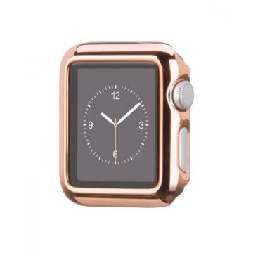 Kit Bracelet + Coque Hoco Or Rosé pour Apple Watch 42mm