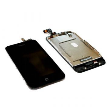 iPhone 3G Glas + Touch Display + Mittelrahmen + Sensor