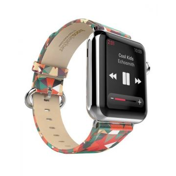 Hoco Kaleidoscope leather Apple Watch 42mm bracelet with adapters