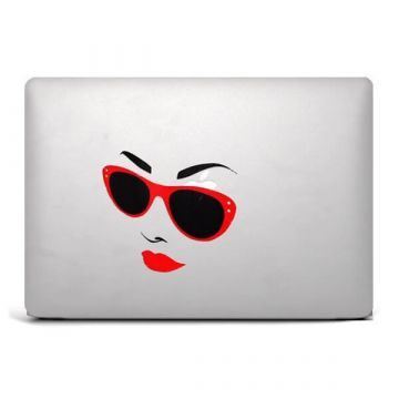 Women Sunglasse Macbook Sticker Colour