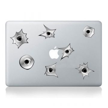 Kogel inslagen Sticker MacBook