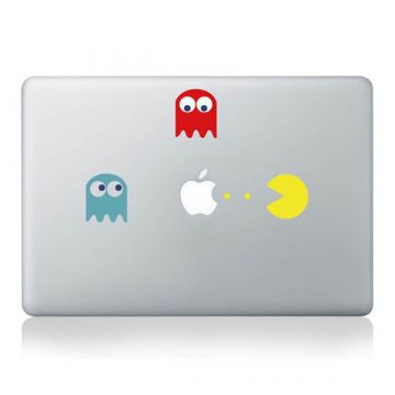 Sticker MacBook Pac-man Couleur