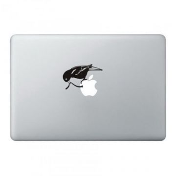 Worm in de Apple MacBook sticker