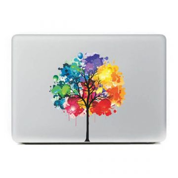 Sticker MacBook Arbre Couleur