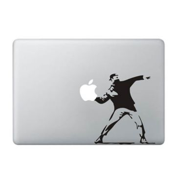 Sticker MacBook Manifestant Banksy