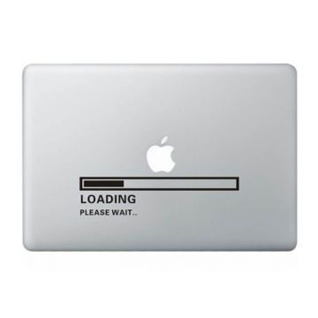 Loading please wait MacBook sticker