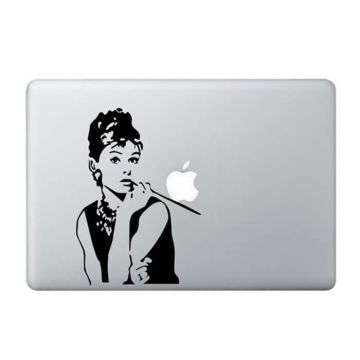 Audrey Hepburn MacBook Sticker