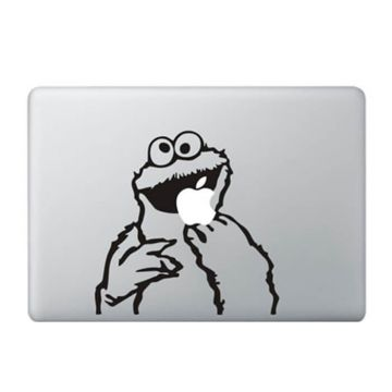 Appel etend Cookie Monster MacBook sticker