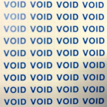 Pack of 300 VOID warranty stickers