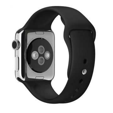 Zwart siliconen bandje Apple Watch 42mm S/M M/L