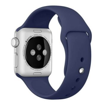 Donkerblauw siliconen bandje Apple Watch 42mm S/M M/L