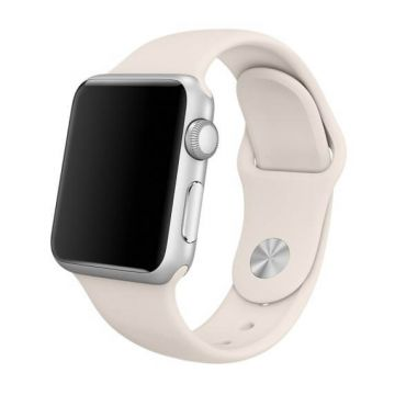 Wit antiek siliconen bandje Apple Watch 42mm S/M M/L