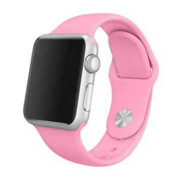 Lichtroze siliconen bandje Apple Watch 42mm S/M M/L