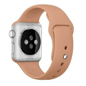 Walnoot bruin siliconen bandje Apple Watch 38mm S/M M/L
