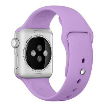 Lila paars siliconen bandje Apple Watch 38mm S/M M/L