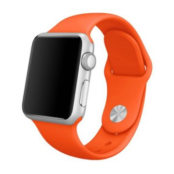 Oranje siliconen bandje Apple Watch 38mm S/M M/L
