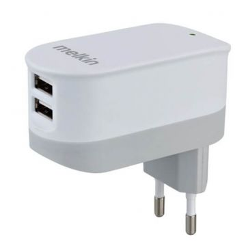 Double USB charger EU white CE