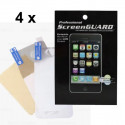 Pack 4X Protections écran Iphone 4/4S face AV AR brillant (sans packaging)