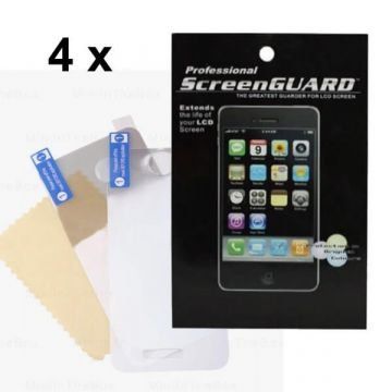 Pack 4X Protections écran Iphone 4/4S face AV AR brillant (avec packaging)