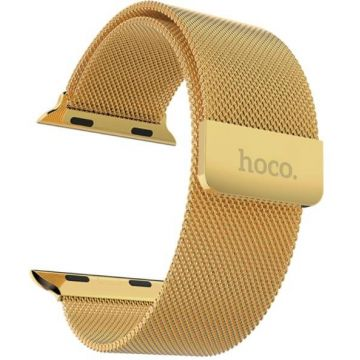 Gold Milanese Hoco Apple Watch 42mm Black Bracelet