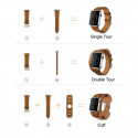 Hoco Birkin Style 3 in 1 leather bracelet for 42mm Apple Watch