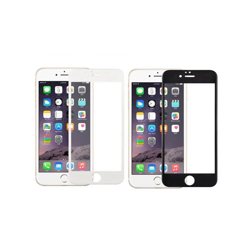 Tempered glass screen protector for iPhone 6/6S - Black or white