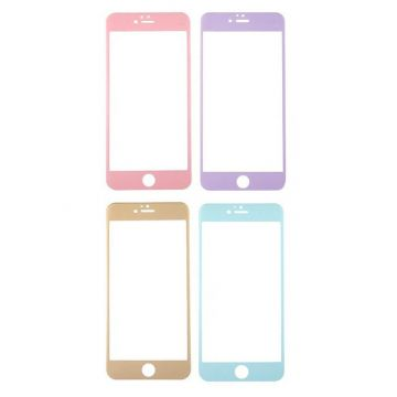 Gebogen carbon tempered glass screen protector iPhone 6 6S