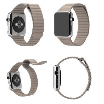 Quilted Leather Strap for Apple Watch 40mm & 38mm