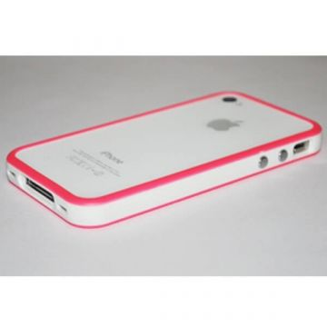 Bumper - Roze rand in TPU IPhone 4 & 4S