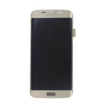 Original quality complete screen for Samsung Galaxy S6 Edge in gold