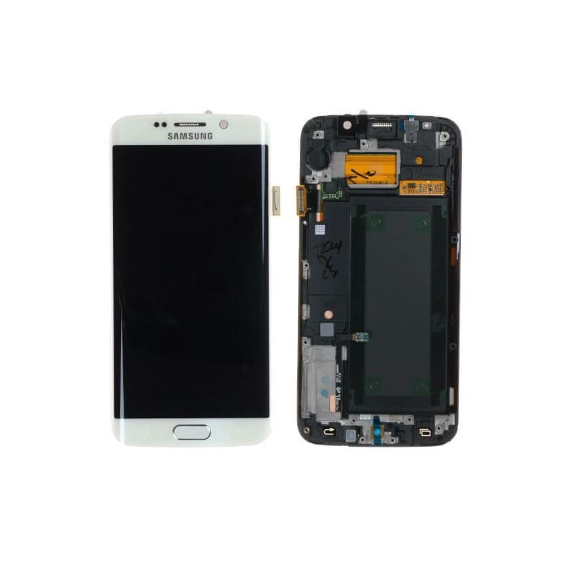 Original quality complete screen for Samsung Galaxy S6 Edge in white