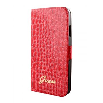 Etui Folio Croco Guess Rouge Samsung Galaxy S4