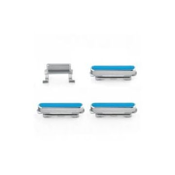 Set 4 zilveren knoppen volume power iPhone 6 Plus