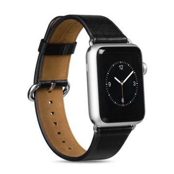 Hoco Black Leather Apple Watch 38mm Strap