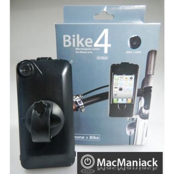 Black WATERPROOF bicycle motorcycle support for iPhone 4 and 4S
