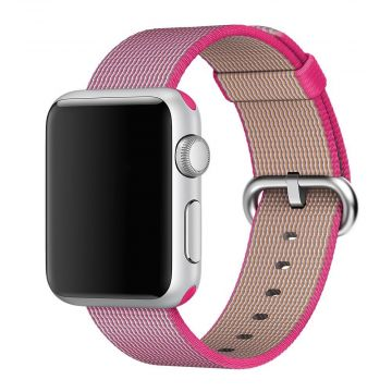 Pink Woven Nylon Band Apple Watch 40mm & 38mm